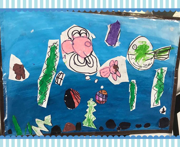 绘画剪贴:奇妙的海底世界 - 江阴市新桥实验幼儿园